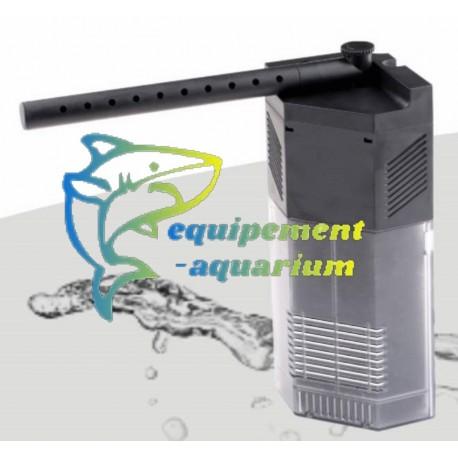 Filtre interne d'angle 650 L/H pour aquarium 80L pas cher