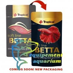 Tropical Betta soft nourriture combattant